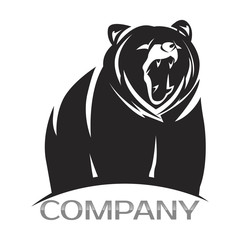 Bear logo- vector illustration