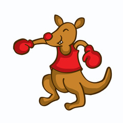 Cartoon kangaroo boxing funny collection