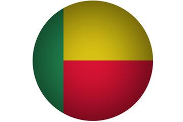 3D Benin flag,Benin national flag illustration symbol.