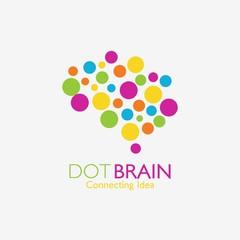Brain Logo design vector template. Think idea concept. Brainstorm power thinking brain Logotype icon Logo.