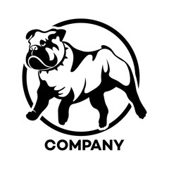 The logo of the dog breed English Bulldog
