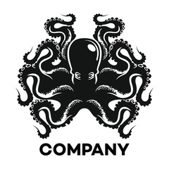 Black octopus logo