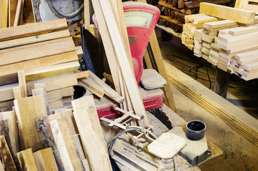 Warehouse carpentry workshop