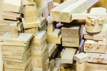 Warehouse lumber. Furniture workshop