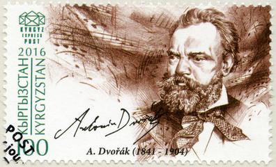 KYRGYZSTAN - 2016: shows Antonin Leopold Dvorak (1841-1904)