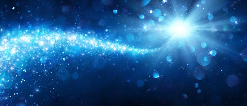 Magic Christmas Star With Shiny Trail