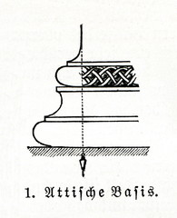 Detail of column with Attic base (from Meyers Lexikon, 1895, 7/470)