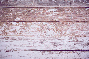 Vintage weathered shabby white painted wood texture as backgroun