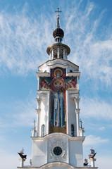 fresco on tower of Nicholas temple-lighthouse, Crimea