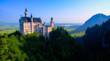 Foto auf Acrylglas Schloss Neuschwanstein castle view from Marienbrucke, Bayern, Germany