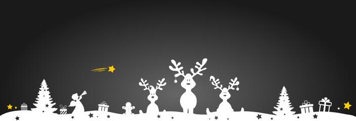 Christmas Reindeers with Sleigh