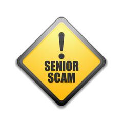 Senior Scam hazard sign illustration
