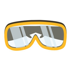 Safety glasses tool icon. Industrial or household instrument for