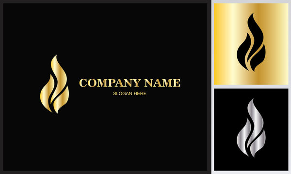 flame gold logo