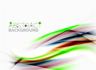 Smooth lines, abstract background