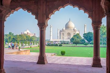 Taj Mahal, Agra, India Wall mural