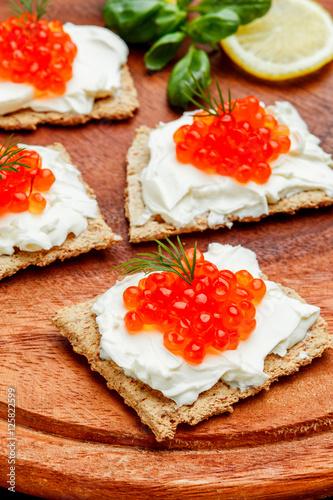 Canapes with red caviar imagens e fotos de stock royalty for Canape with caviar