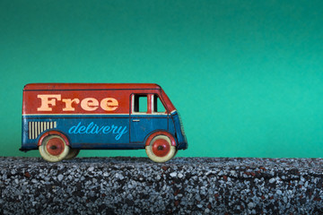 Free delivery, vintage toy truck