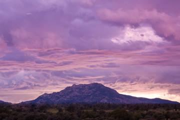 Sunset Storm Over Granite Mountain