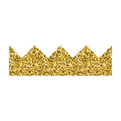 Golden crown icon image silhouette. Princess gold crown element. Golden shine crown symbol - simple and minimalistic. Vector illustration.