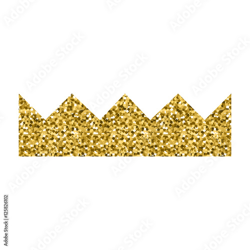 Golden Crown Icon Image Silhouette Princess Gold Crown Element