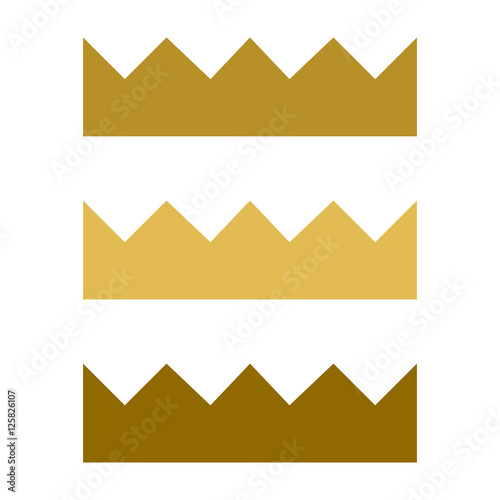 Golden Crown Silhouette Icon Image Princess Crown Gold Element