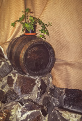 Old wine barrel cellar