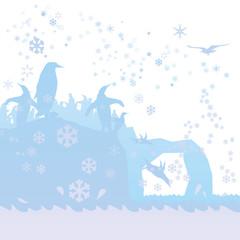 Pinguine im Eismeer