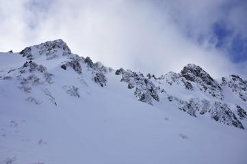 厳冬の中央アルプス千畳敷カール