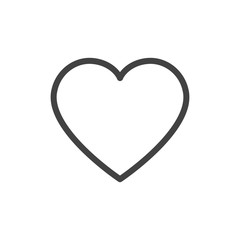 Heart outline icon vector isolated