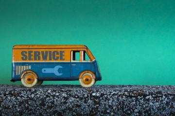 Service truck, vintage toy car