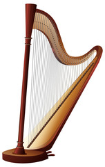 Classical harp with strings