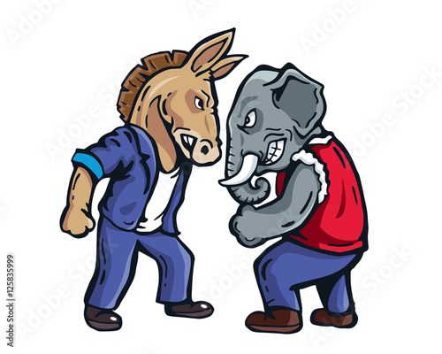 Democrats Vs Republicans Cartoon