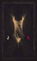 Tarot cards - back design. Lilith, Selena