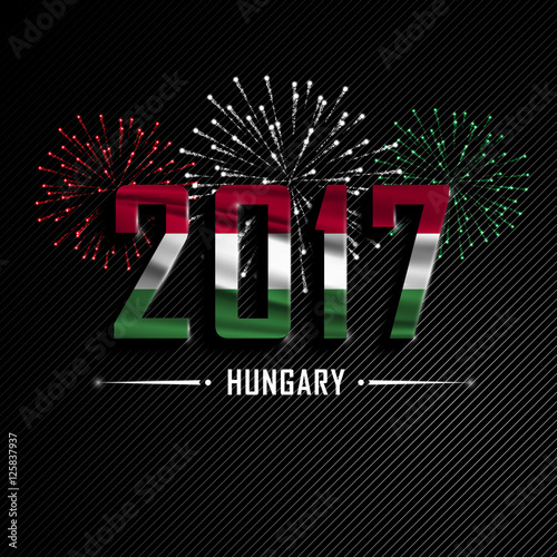 Christmas and new year greetings in hungarianhappy new year goodbye happy new year and merry christmas wavy flag of hungary colorful fire christmas and new year greetings in hungarian m4hsunfo