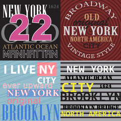 New York T-Shirt Graphics, Brooklyn , Broadway, Manhattan