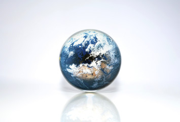 Planet Earth in crystal ball, Elements of this image furnished by NASA