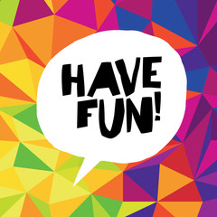 Have fun! Colorful triangles.