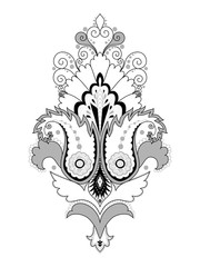 Element damask floral pattern. Easy to change colors.