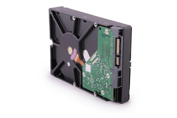 Computer hard disk (Clipping path)