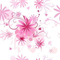 pink flowers seamless