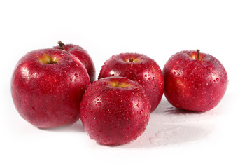 Lovely fresh ripe apple as part of the health food