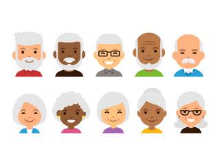 Old people avatars