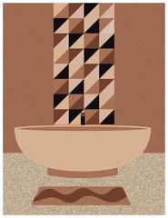 Bathroom in brown shades