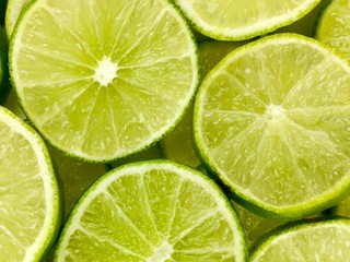 lime slices filling the frame