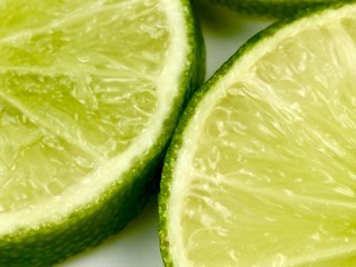slices of lime filling the frame