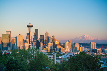 Fotomurales - View of downtown Seattle skyline