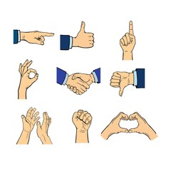 Human hands vector illustration.
