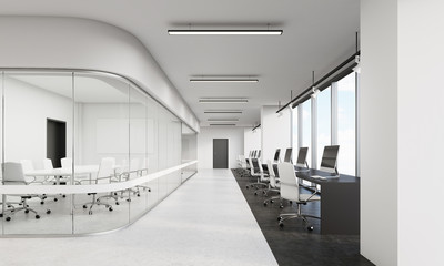 Office with rounded corners conference room
