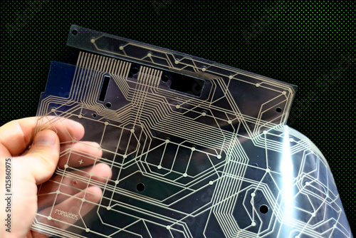Printed Circuit Board Holds Tiny Electronic Components